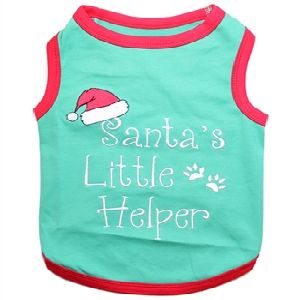 Parisian Pet Santa's Little Helper Dog T-Shirt-X-Large