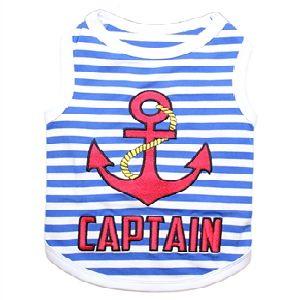 Parisian Pet Captain Dog T-Shirt-Large