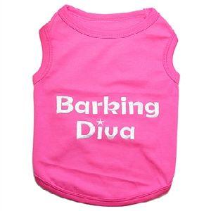 Parisian Pet Barking Diva Dog T-Shirt-Large