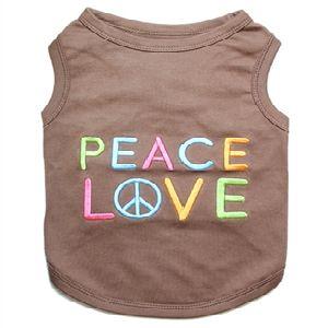 Parisian Pet Peace Love Dog T-Shirt-X-Large