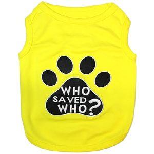 Parisian Pet Who Saved Who? Dog T-Shirt-X-Large