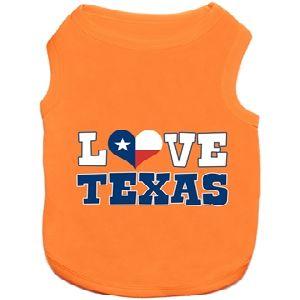 Parisian Pet Love Texas Dog T-Shirt-Medium