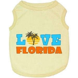 Parisian Pet Love Florida Dog T-Shirt-X-Large