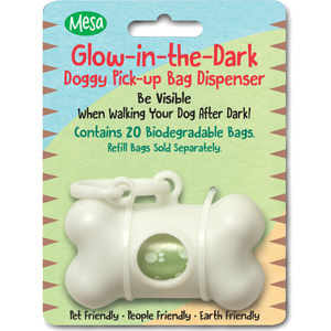 Mesa Pet Products - Glow-in-the-Dark Doggie Pick up Bag Dispenser Kit