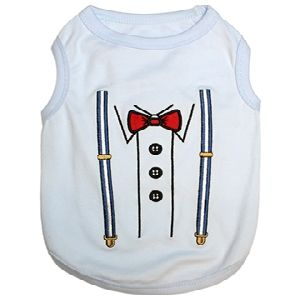 Parisian Pet Suspender Dog T-Shirt-X-Large