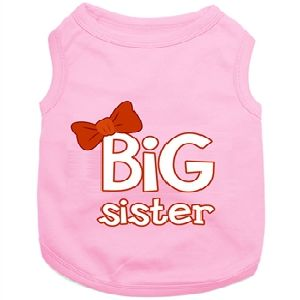 Parisian Pet Big Sister Dog T-Shirt-Large