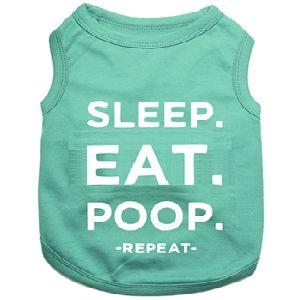 Parisian Pet Sleep Eat Poop Dog T-Shirt-Large
