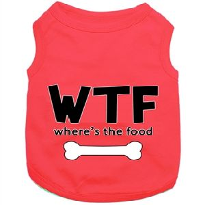 Parisian Pet WTF Where's The Food Dog T-Shirt-Small