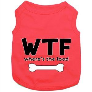 Parisian Pet WTF Where's The Food Dog T-Shirt-XX-Large