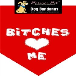 Parisian Pet Bitches Love Me Dog Bandana-Small