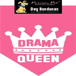 Parisian Pet Drama Queen Dog Bandana-Medium/Large