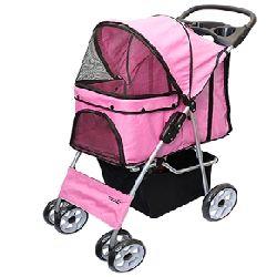 Parisian Pet Dog Stroller-Dark Pink