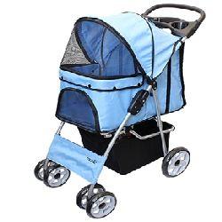 Parisian Pet Dog Stroller-Light Blue