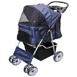 Parisian Pet Dog Stroller-Dark Blue
