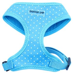 Parisian Pet Mesh Harness Blue Dot-Small