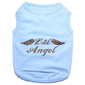 Parisian Pet Lil Angel Blue Dog T-Shirt-X-Large