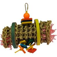 A&E Cage Company Happy Beaks Vine Mat Rollup - Multicolored Small