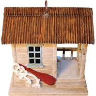 Songbird Essentials - Songbird Boat Shack Bird House - 7.6X5.6X7.6