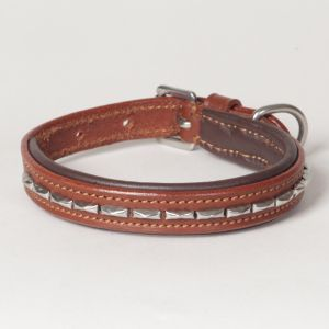"Hound?s Best - XX-Small Genuine Leather Dog Collar ""Magnifico"""