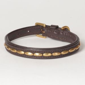 "Hound?s Best - X-Small Genuine Leather Dog Collar ""Camelot"""