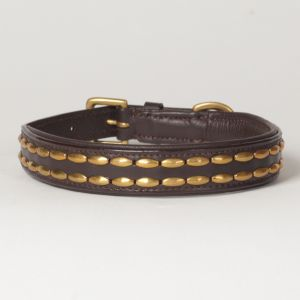 "Hound?s Best - Medium Genuine Leather Dog Collar ""Camelot"""