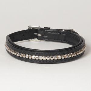 """Hound?s Best - Medium Genuine Leather Dog Collar """"Crown Clincher"""""""