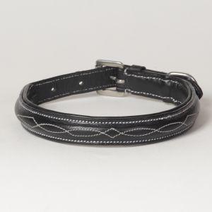 "Hound?s Best - Medium Hand Carved Leather Dog Collar ""Ponderosa"""