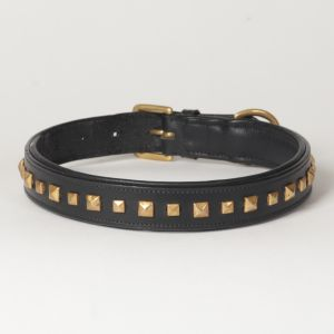"Hound?s Best - Large Genuine Leather Dog Collar ""Phantom"""