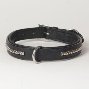 "Hound?s Best - Large Genuine Leather Dog Collar ""Crown Clincher"""