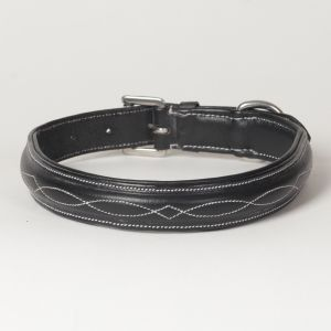 "Hound?s Best - Large Genuine Leather Dog Collar ""Hampton"""