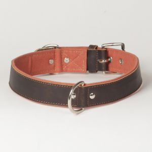 "Hound?s Best- X-Large Canvas Leather Dog Collar ""Sierra"""