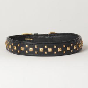 "Hound?s Best - X-Large Genuine Leather Dog Collar ""Phantom"""