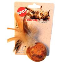 Ethical Cat - Wuggle Wool Ball/Feathers - 5 Inch