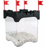 Aqueon Products - Glass - Betta Castle Kit - Black - .5 Gal