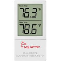 Aquatop Aquatic Supplies - External Digital Dual Temp Display Thermometer - White