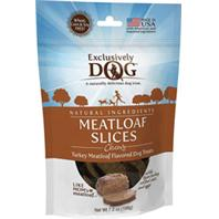 Exclusively Pet Inc - Chewy Meatloaf Slices Dog Treats - Turkey - 7 Oz