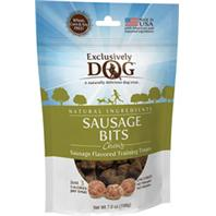 Exclusively Pet Inc - Chewy Sausage Bits Dog Treats - Sausage - 7 Oz