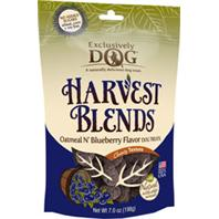 Exclusively Pet Inc - Harvest Blends Dog Treats - Oatmeal/Bluberr - 7 Oz