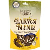 Exclusively Pet Inc - Harvest Blends Dog Treats - Pb/Banana - 7 Oz
