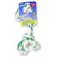 Booda Products - Fresh-N-Floss 2-Knot Rope Bone Dog Toy - Spearmint - Medium