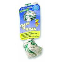 Booda Products - Fresh-N-Floss 2-Knot Rope Bone Dog Toy - Spearmint - Large
