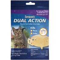 Sergeant S Pet Products P - Sergeants Dual Action Flea & Tick Collar For Cats - 1 Ct