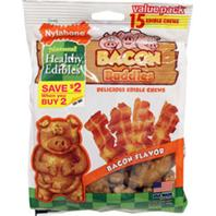 Nylabone - Healthy Edibles Bacon Buddies - Bacon - One Size/15 Ct