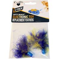 Ourpets Company - Catty Whack Replacement Feathers - Assorted - 2 Pack