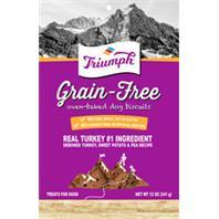 Triumph Pet - Triumph Grain Free Dog Biscuits - Turk/S.Pot/Pea - 12 oz