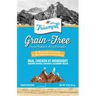 Triumph Pet - Triumph Grain Free Dog Biscuits - Chicken/Pea/Blueberry - 12 oz