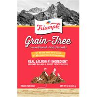 Triumph Pet - Triumph Grain Free Dog Biscuits - Salmon & Sweetpotato - 12 oz