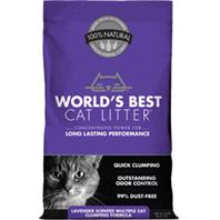 World's Best Cat Litter - Worlds Best Cat Litter Multiple Cat Formula - Lavender - 14 Lb