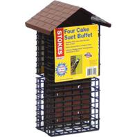 Classic Brands - Stokes Four Cake Suet Buffet - Brown