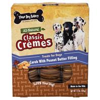 Three Dog Bakery - Classic Cremes Carob Cookies - Peanut Butter - 13 oz